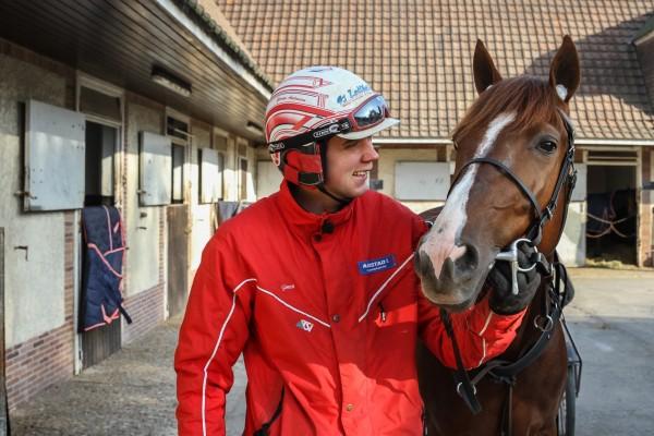 Lionel og Gøran Antonsen på Grosbois i Frankrike.
